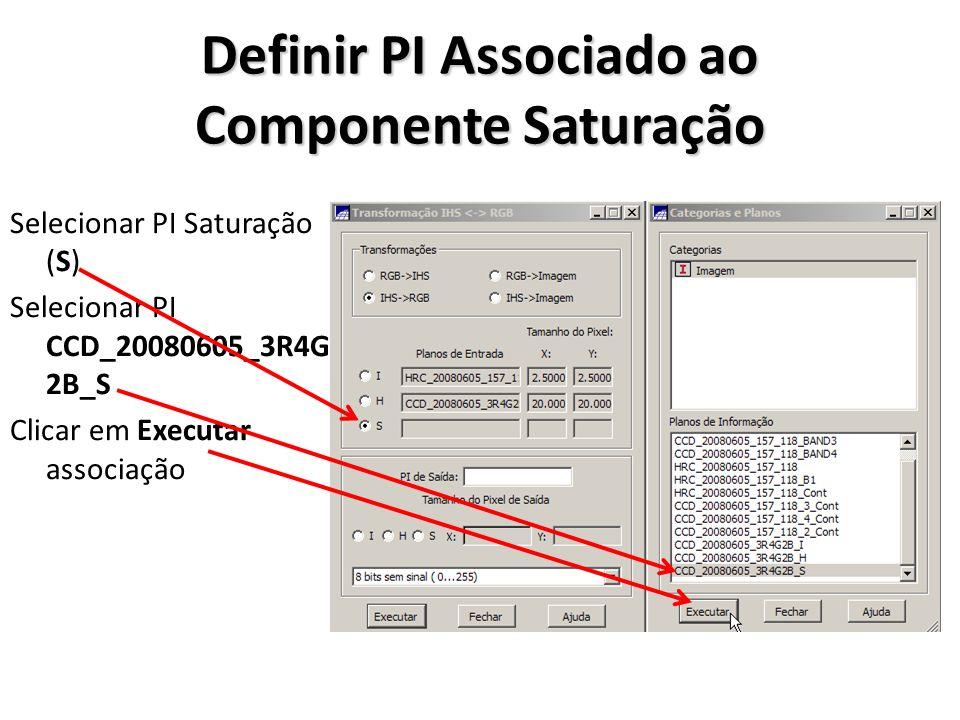 Definir PI Associado ao Componente Saturação