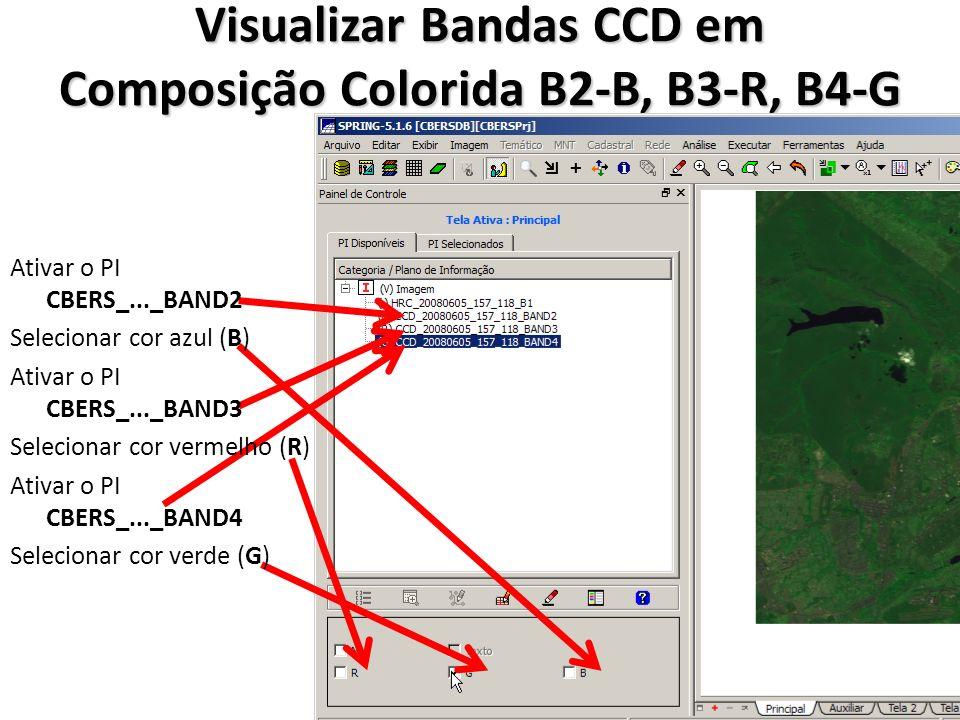 Visualizar Bandas CCD em Composição Colorida B2-B, B3-R, B4-G