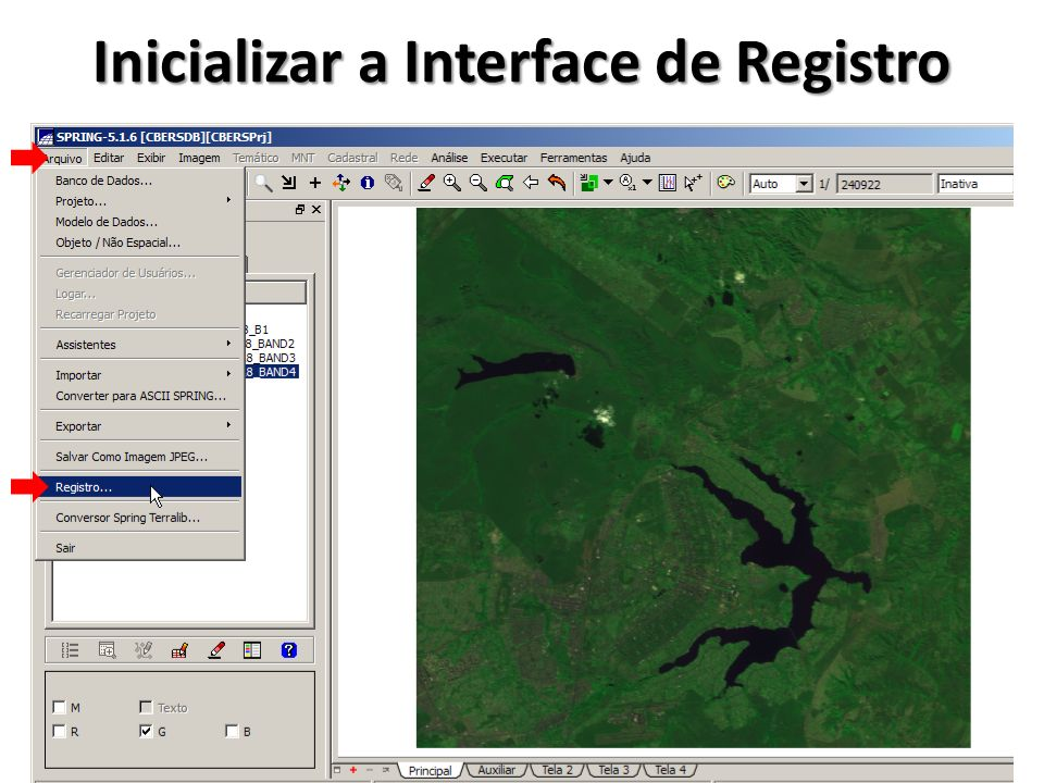 Inicializar a Interface de Registro