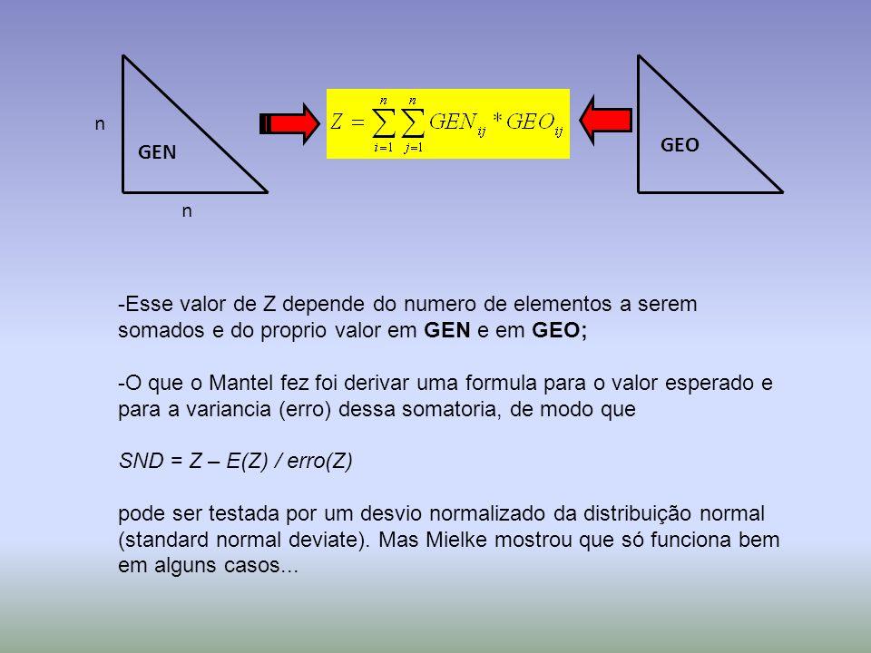 n GEO. GEN. n. Esse valor de Z depende do numero de elementos a serem somados e do proprio valor em GEN e em GEO;