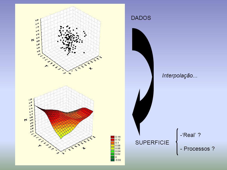 DADOS Interpolação... 'Real' - Processos SUPERFICIE
