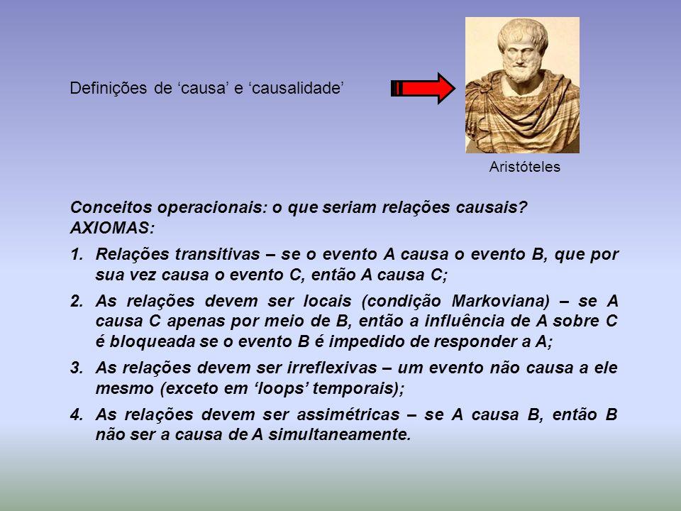 Definições de 'causa' e 'causalidade'