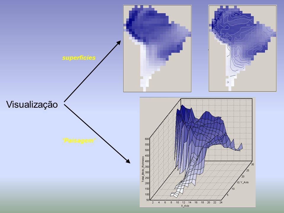 superficies Visualização 'Paisagem'