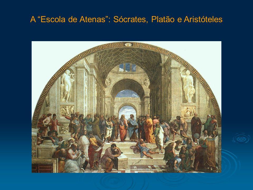 A Escola de Atenas : Sócrates, Platão e Aristóteles