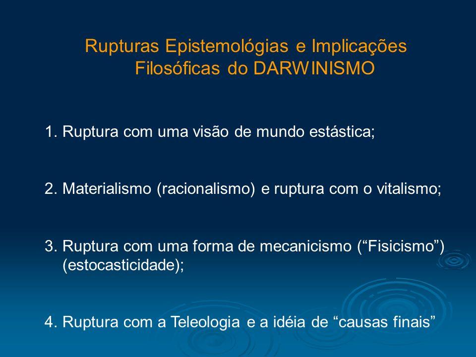 Rupturas Epistemológias e Implicações Filosóficas do DARWINISMO