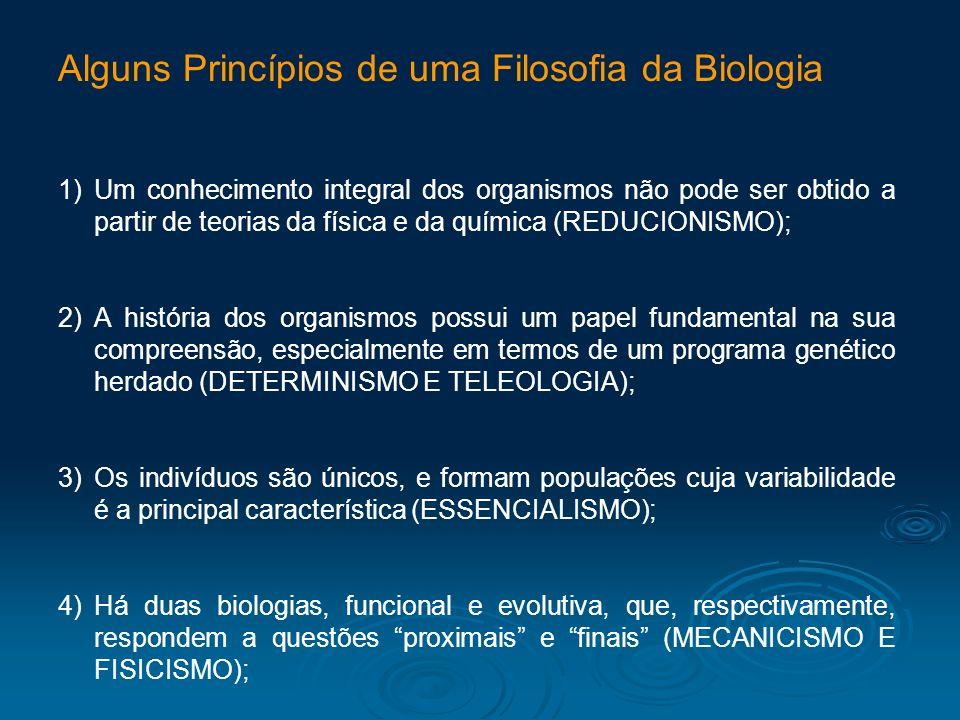 Alguns Princípios de uma Filosofia da Biologia