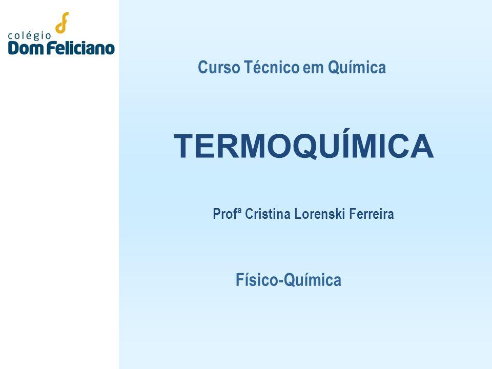 TERMOQUÍMICA Profª Cristina Lorenski Ferreira