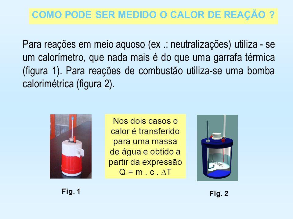 Para reações em meio aquoso (ex .: neutralizações) utiliza - se