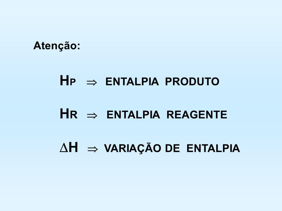 H  VARIAÇÃO DE ENTALPIA