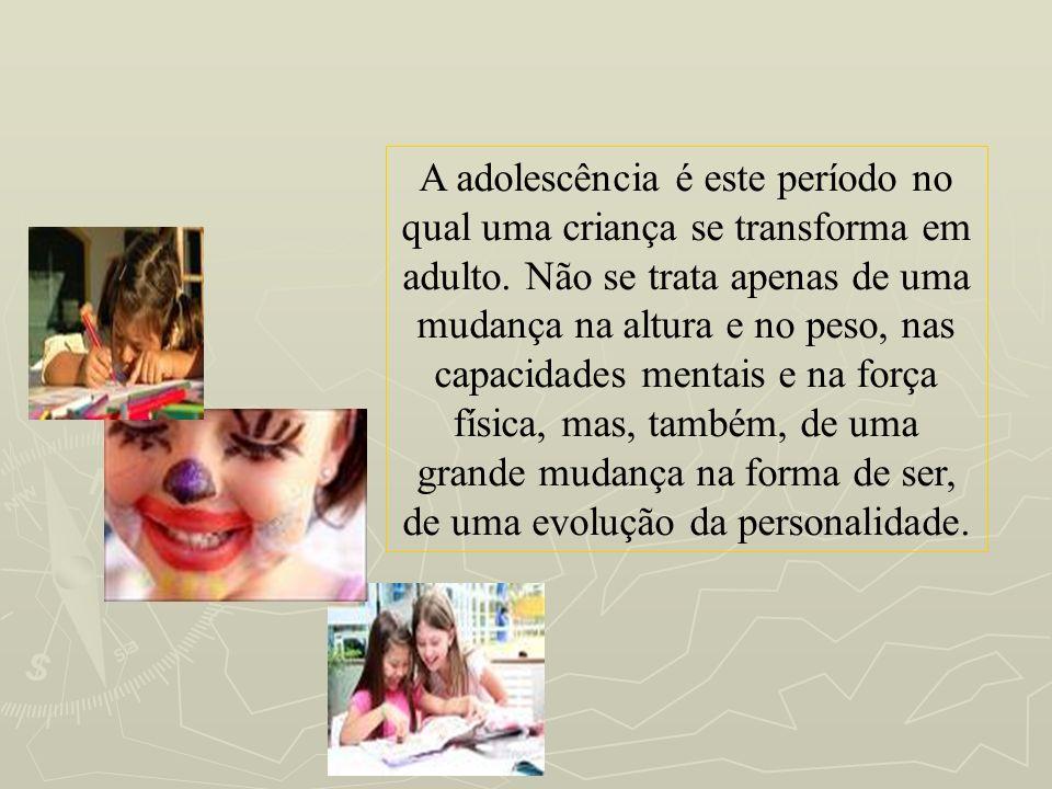 A adolescência é este período no qual uma criança se transforma em adulto.