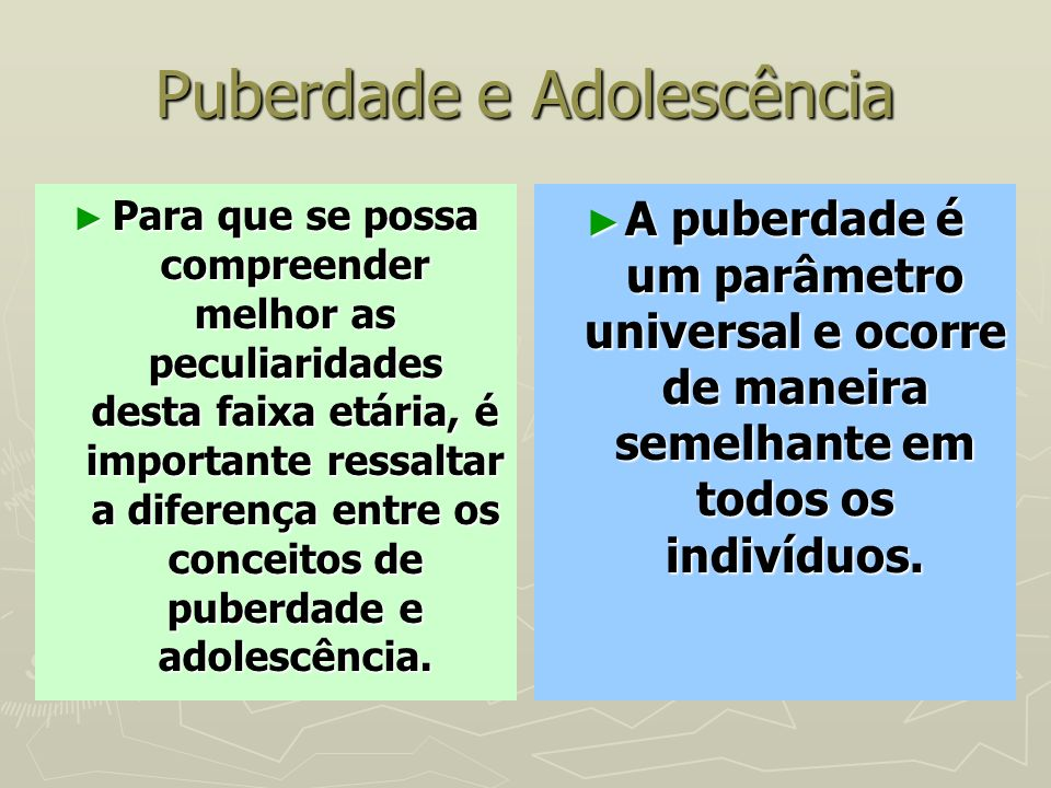 Puberdade e Adolescência