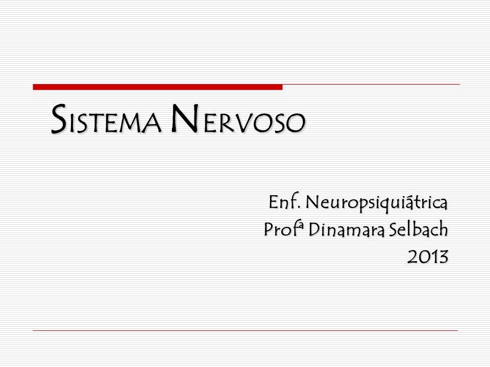 Enf. Neuropsiquiátrica Profª Dinamara Selbach 2013