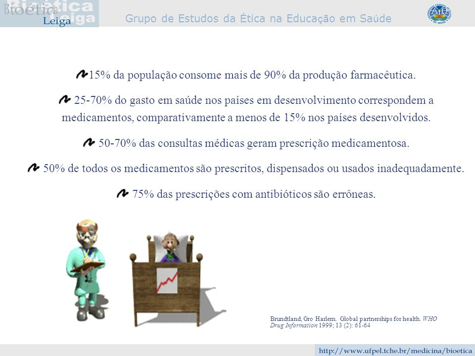 15% da população consome mais de 90% da produção farmacêutica.