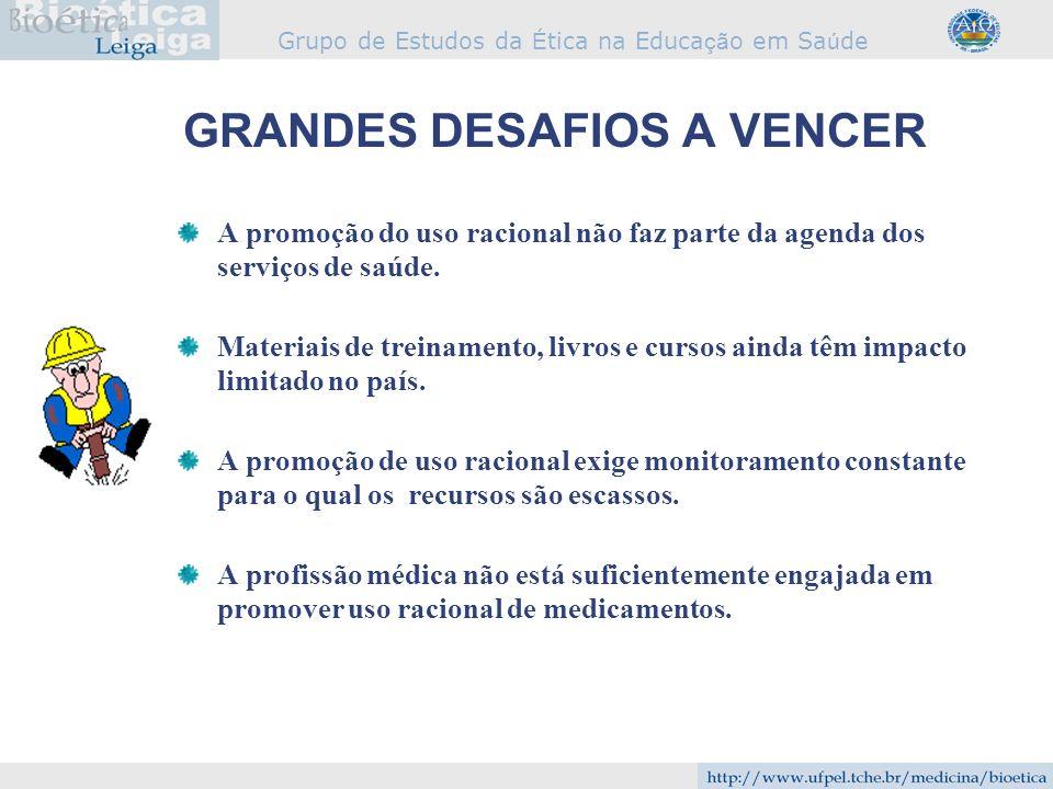 GRANDES DESAFIOS A VENCER