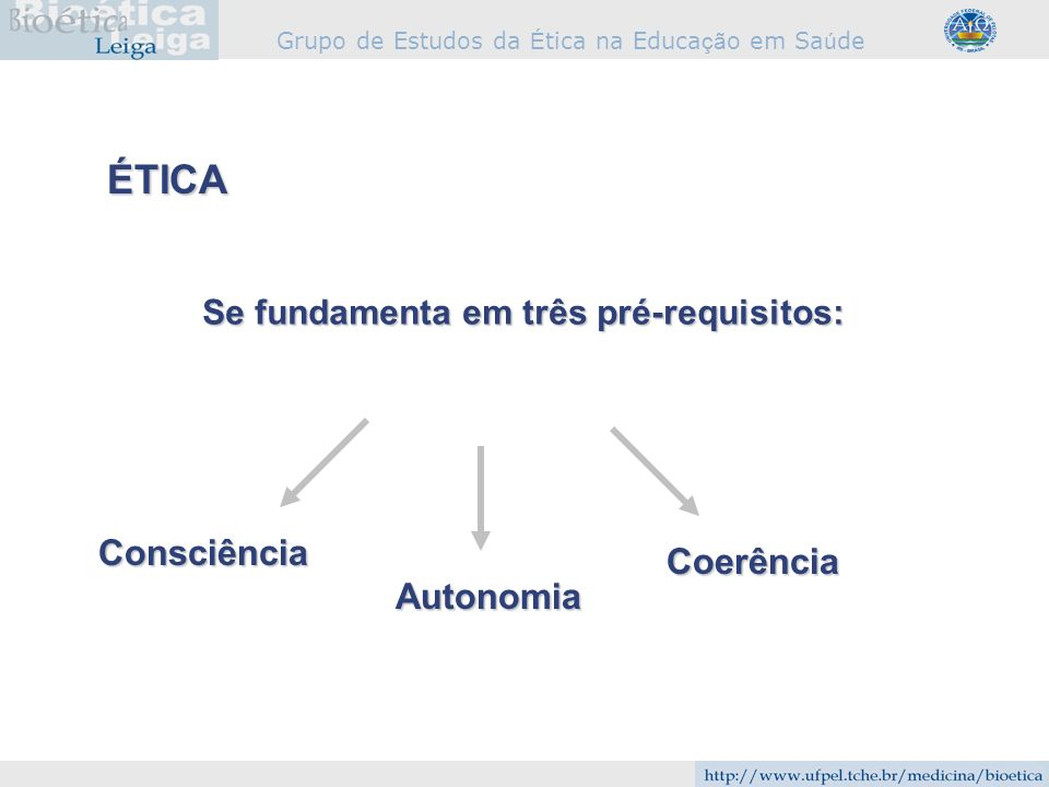 ÉTICA Consciência Coerência Autonomia