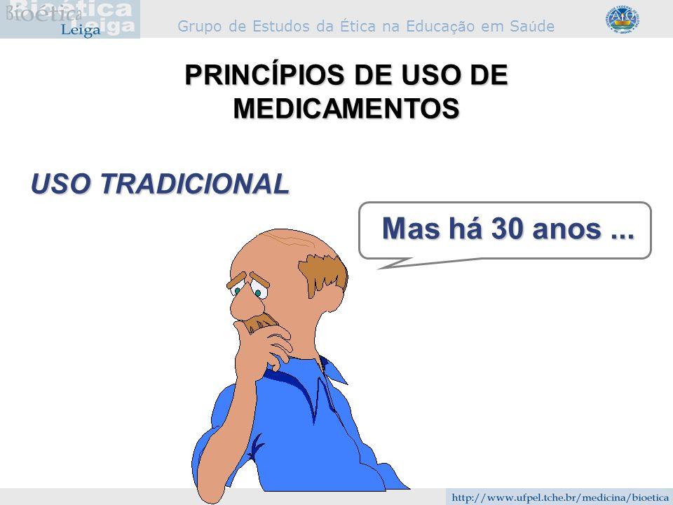 PRINCÍPIOS DE USO DE MEDICAMENTOS