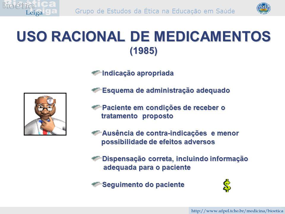 USO RACIONAL DE MEDICAMENTOS (1985)