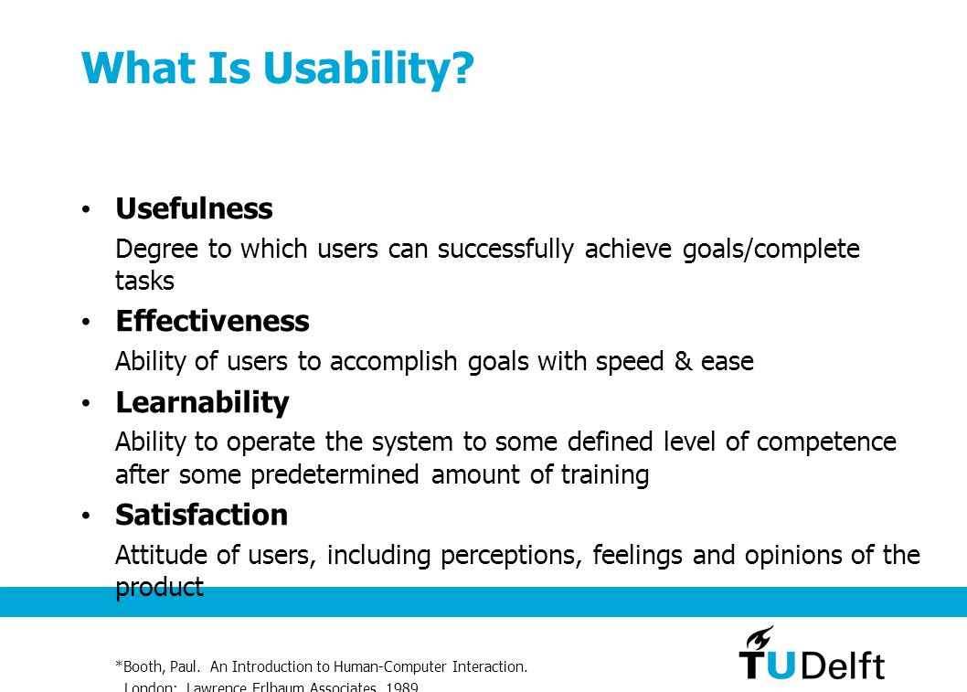 What Is Usability Usefulness Effectiveness Learnability Satisfaction