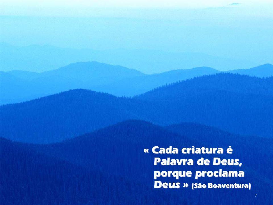 « Cada criatura é Palavra de Deus, porque proclama Deus » (São Boaventura)