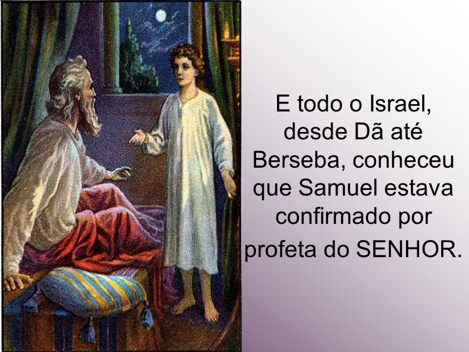 E todo o Israel, desde Dã até Berseba, conheceu que Samuel estava confirmado por profeta do SENHOR.