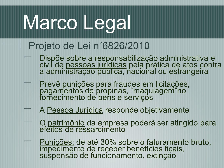 Marco Legal Projeto de Lei n˚6826/2010