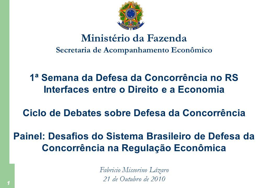 Ministério da Fazenda 1ª Semana da Defesa da Concorrência no RS