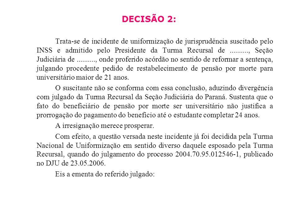 DECISÃO 2: