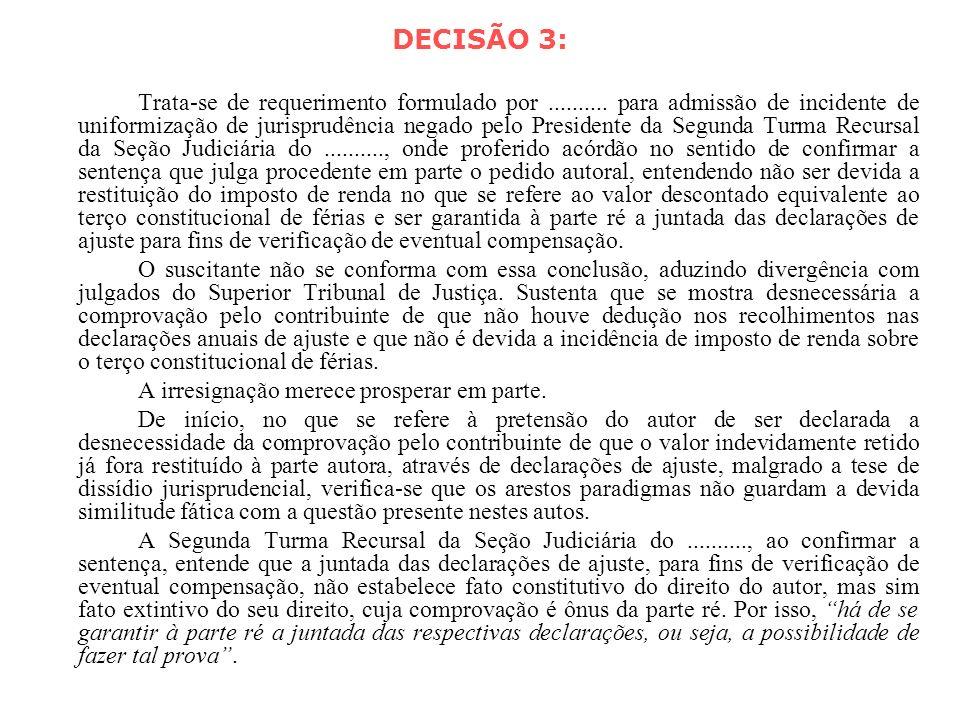 DECISÃO 3: