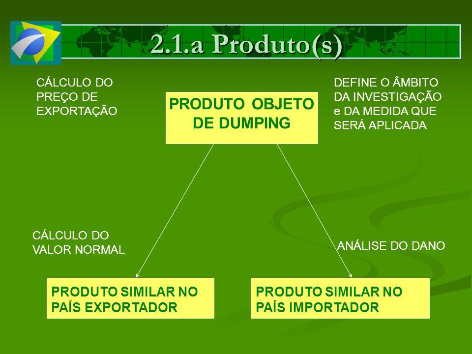 PRODUTO OBJETO DE DUMPING