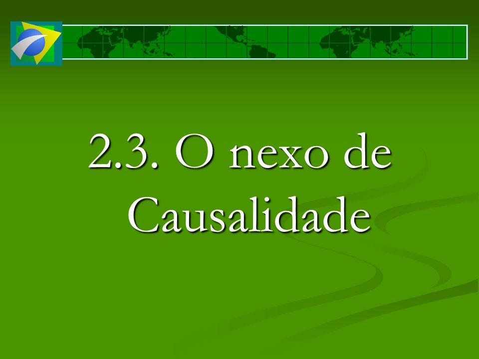 2.3. O nexo de Causalidade