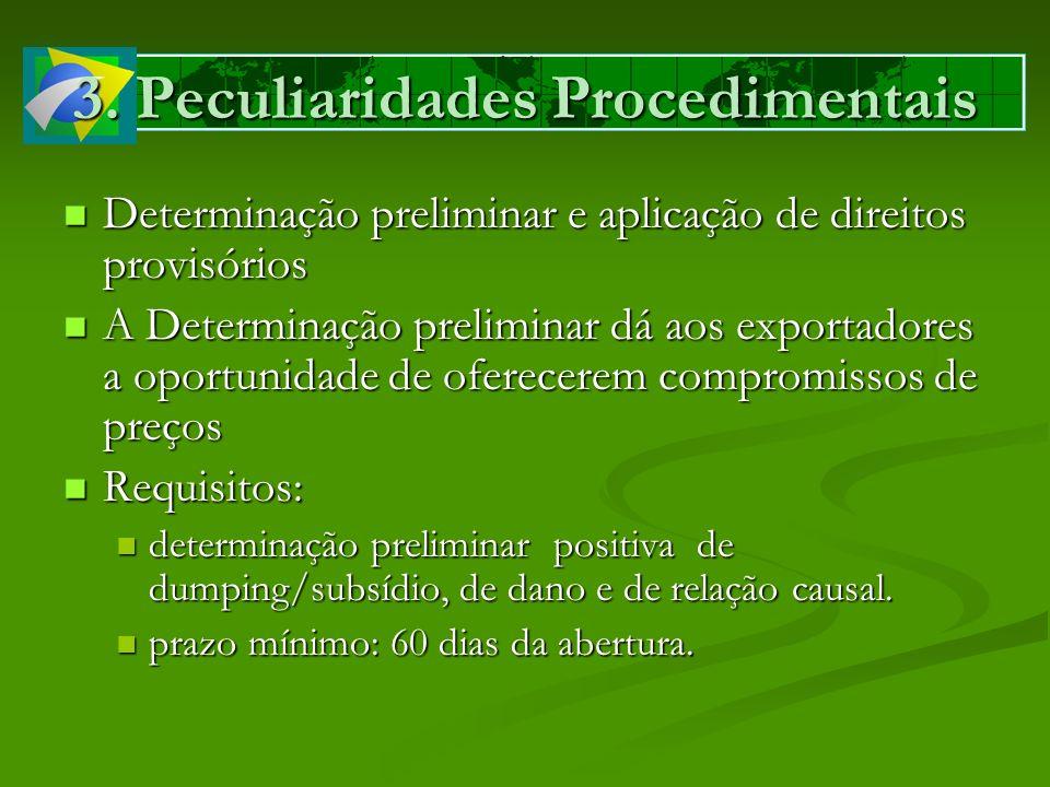 3. Peculiaridades Procedimentais