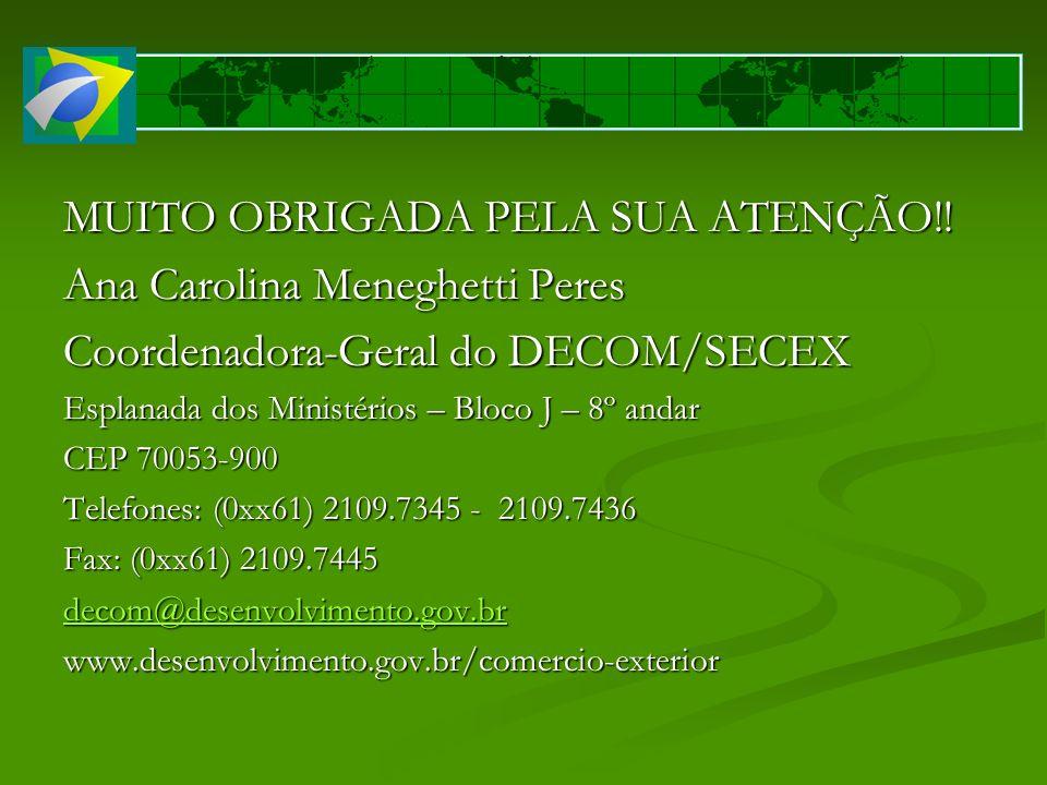 MUITO OBRIGADA PELA SUA ATENÇÃO!! Ana Carolina Meneghetti Peres