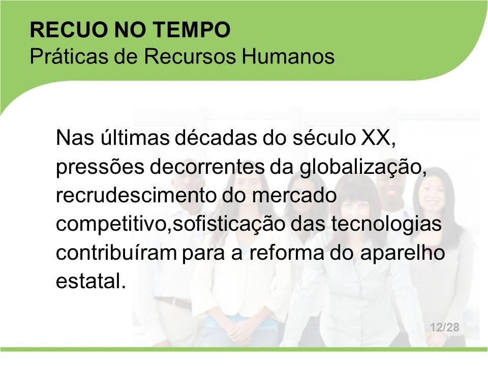 RECUO NO TEMPO Práticas de Recursos Humanos