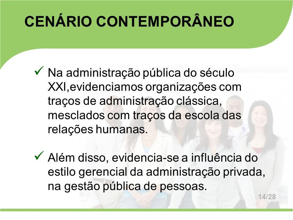 CENÁRIO CONTEMPORÂNEO
