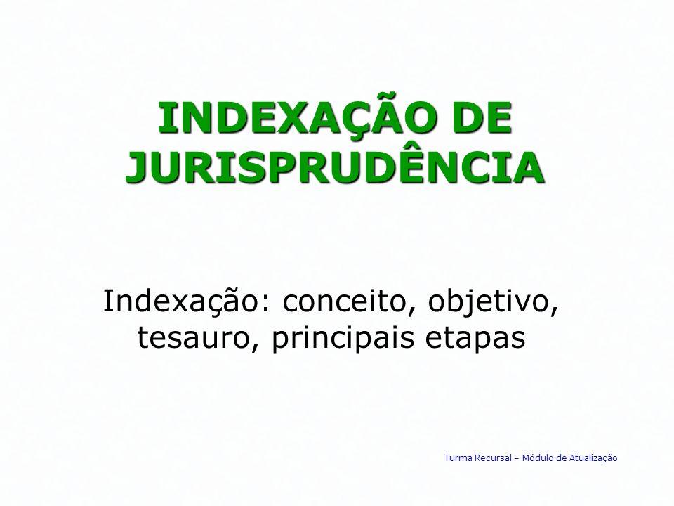 INDEXAÇÃO DE JURISPRUDÊNCIA
