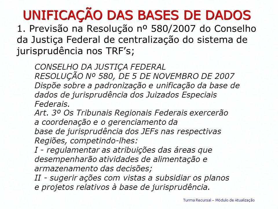 UNIFICAÇÃO DAS BASES DE DADOS