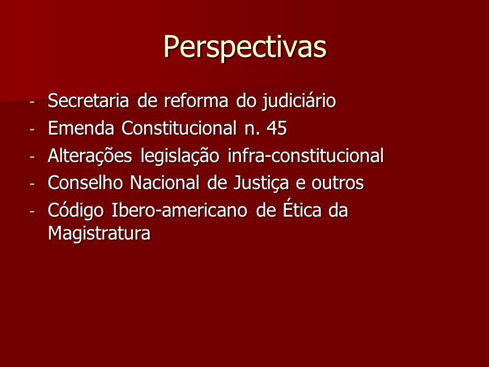 Perspectivas Secretaria de reforma do judiciário