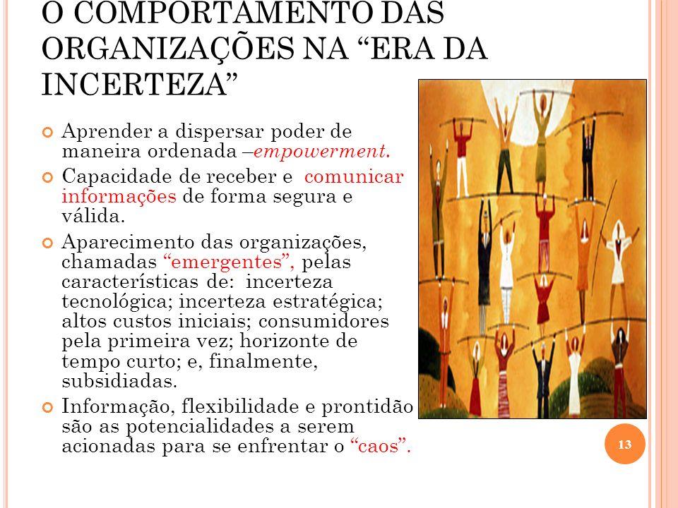 O COMPORTAMENTO DAS ORGANIZAÇÕES NA ERA DA INCERTEZA