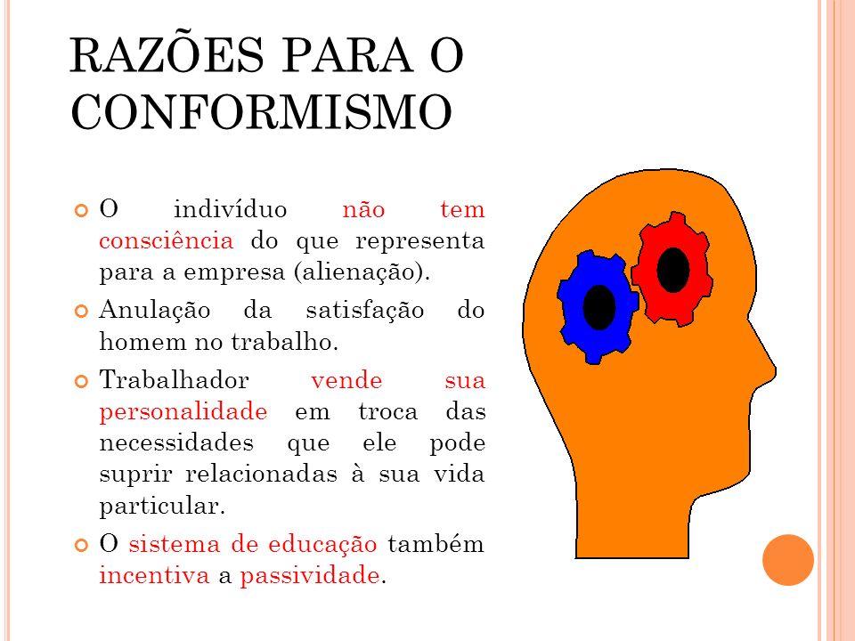 RAZÕES PARA O CONFORMISMO