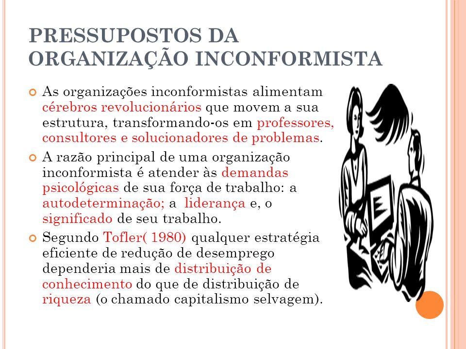 PRESSUPOSTOS DA ORGANIZAÇÃO INCONFORMISTA