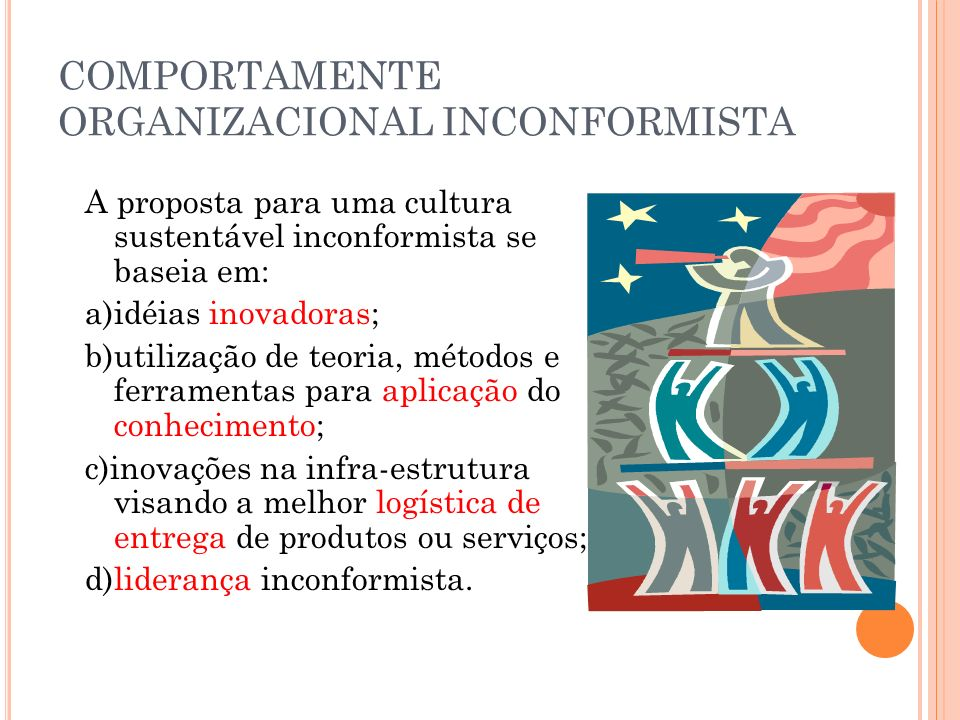 COMPORTAMENTE ORGANIZACIONAL INCONFORMISTA