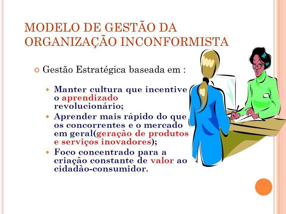 MODELO DE GESTÃO DA ORGANIZAÇÃO INCONFORMISTA