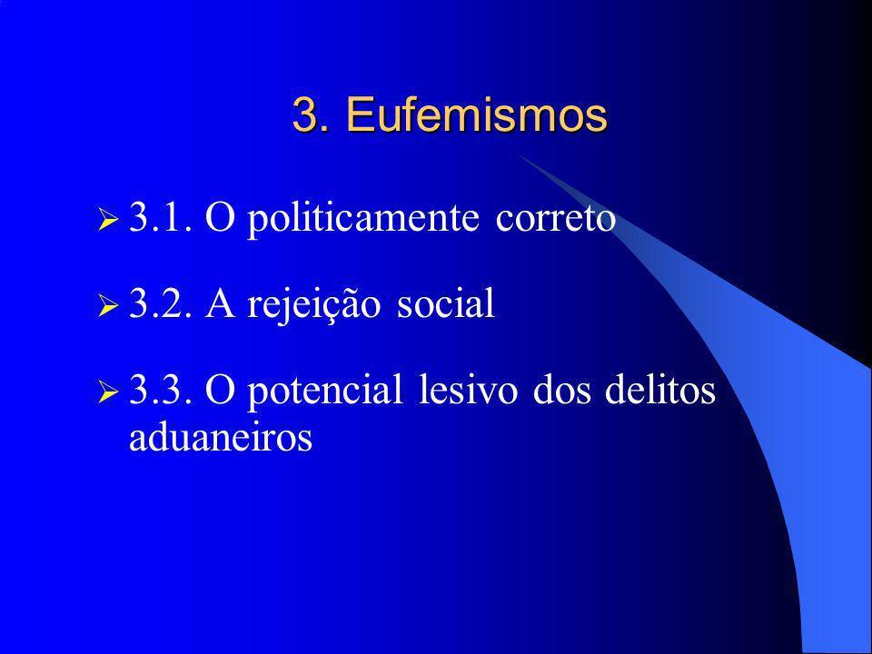 3. Eufemismos 3.1. O politicamente correto 3.2. A rejeição social
