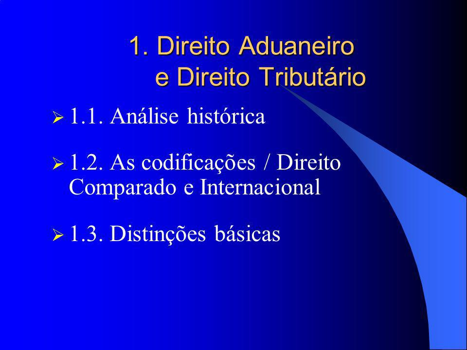 1. Direito Aduaneiro e Direito Tributário