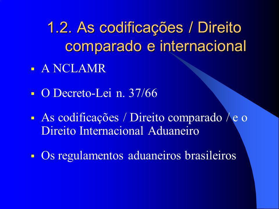 1.2. As codificações / Direito comparado e internacional