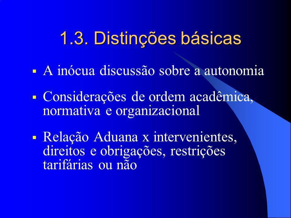 1.3. Distinções básicas A inócua discussão sobre a autonomia