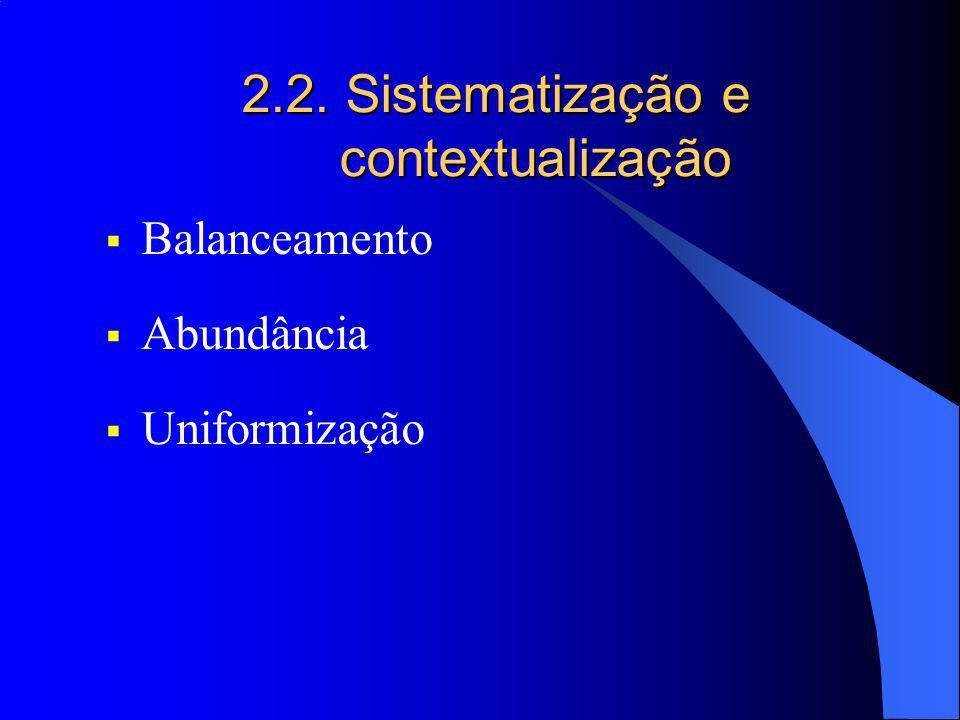 2.2. Sistematização e contextualização