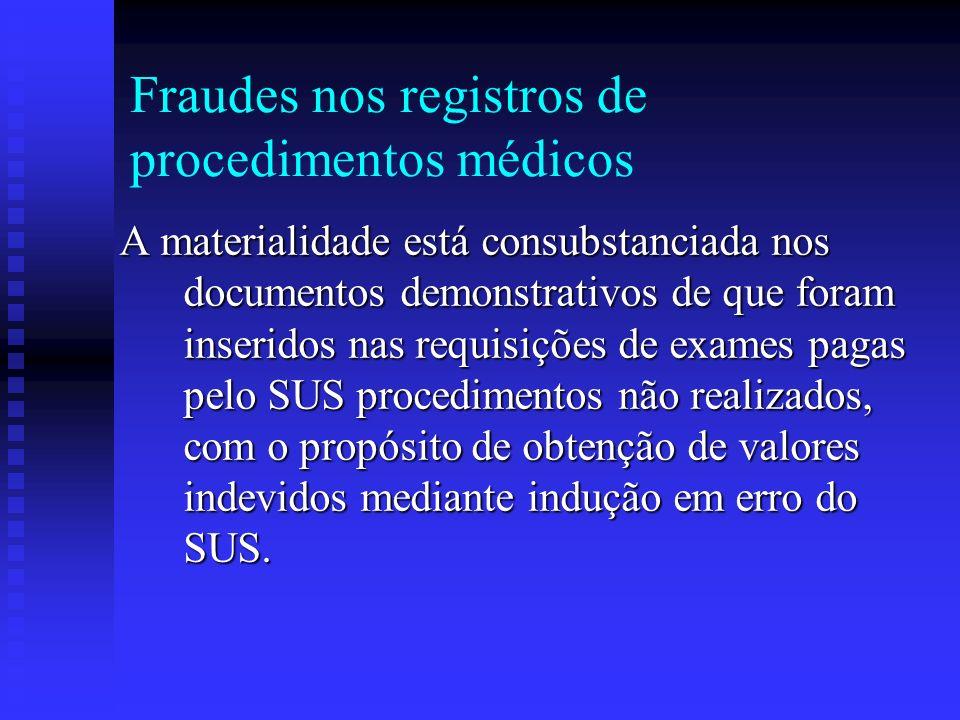 Fraudes nos registros de procedimentos médicos