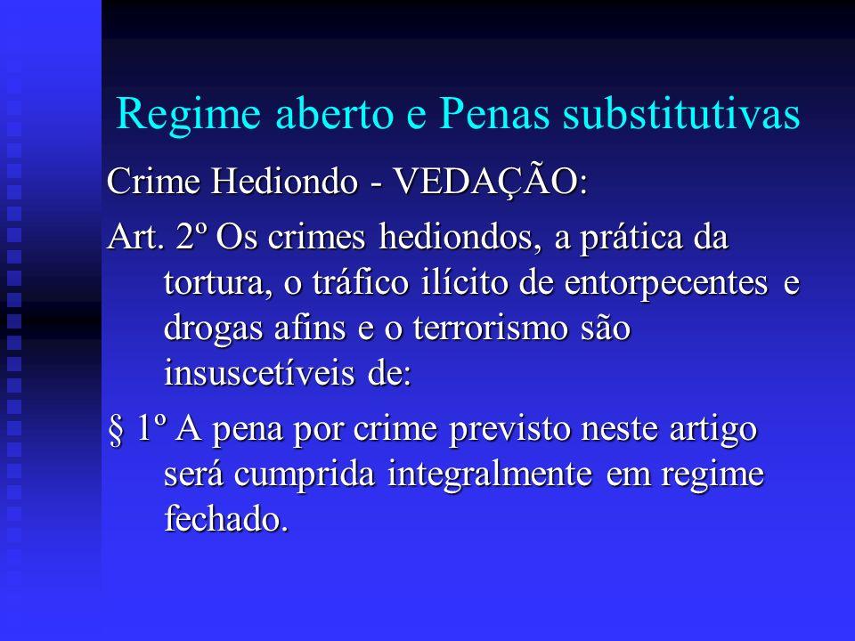 Regime aberto e Penas substitutivas
