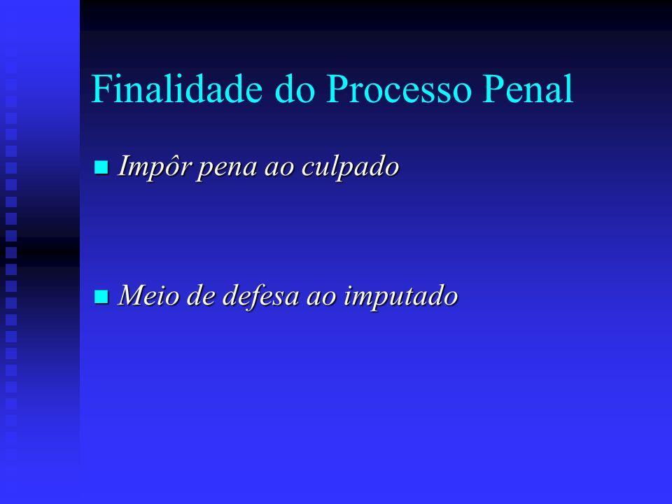 Finalidade do Processo Penal
